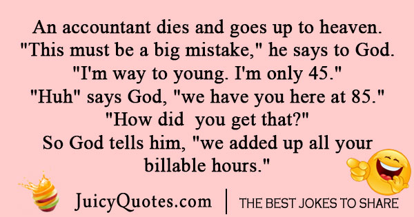 Accountant in heaven joke
