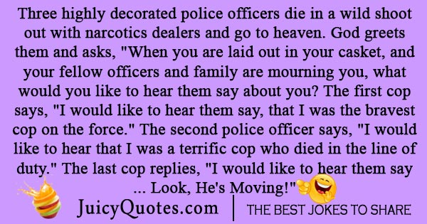 Cop in heaven joke