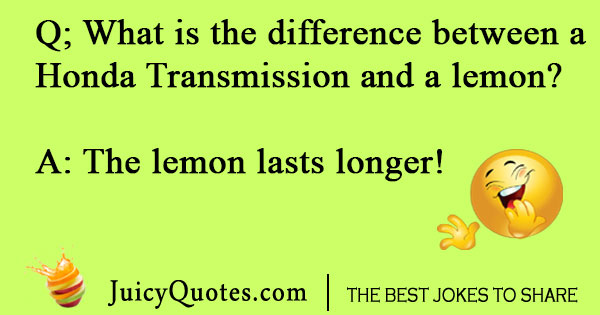 Difference between a lemon and Honda joke