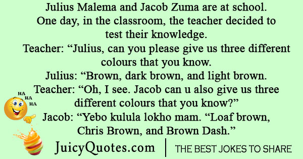 Julius Malema and Jacob Zuma Joke
