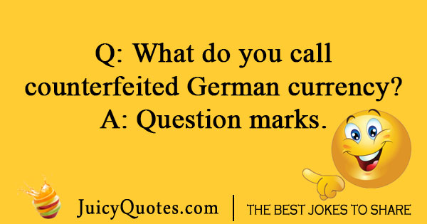 German money joke