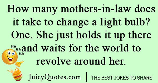 Mother In Law Light-bulb Joke