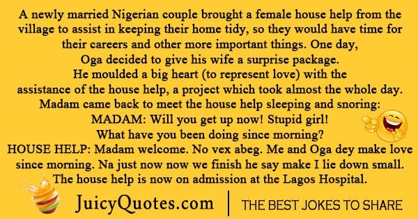 Nigerian Couple Joke