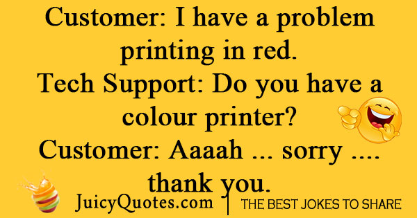 Color Printer Joke