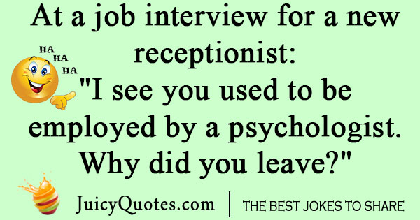 Psychology Job Interview Joke