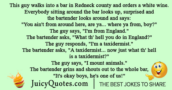 Redneck Bar Joke