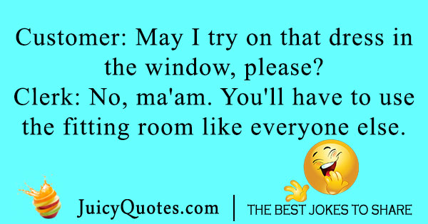 Window Shopping Joke