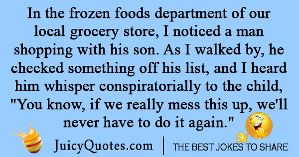 Grocery Shopping Joke