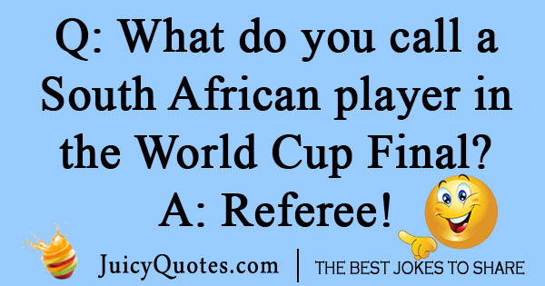 South African World Cup Joke