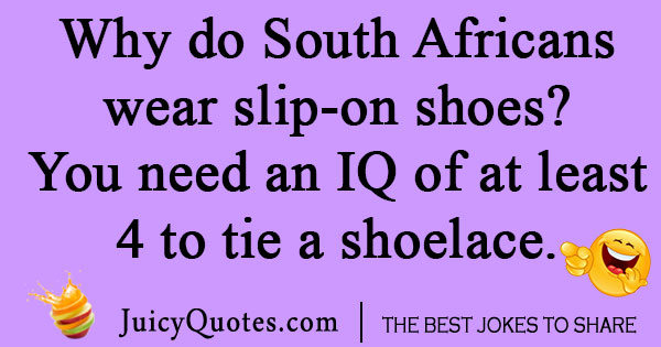 South African IQ Joke