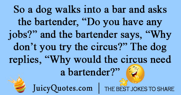 Funny Walks Into a Bar Joke