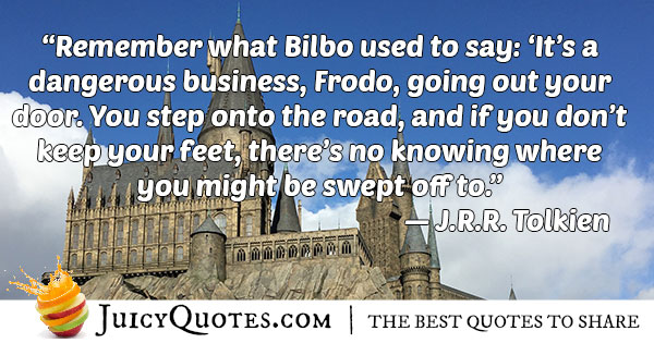 Bilbo Adventure Quote