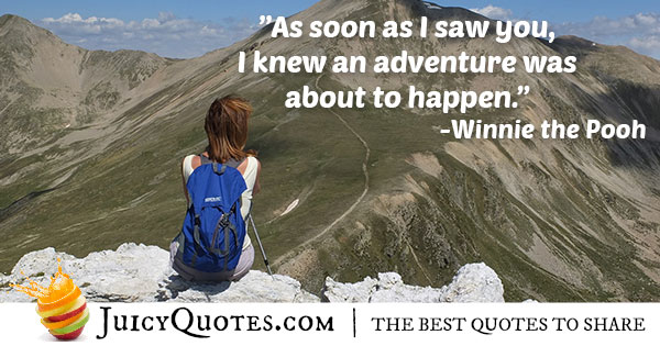 Adventure With You Quote