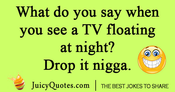 Black TV Joke