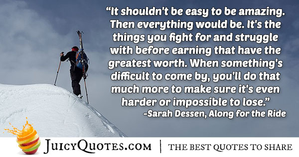 Fight For It - Achievement Quote