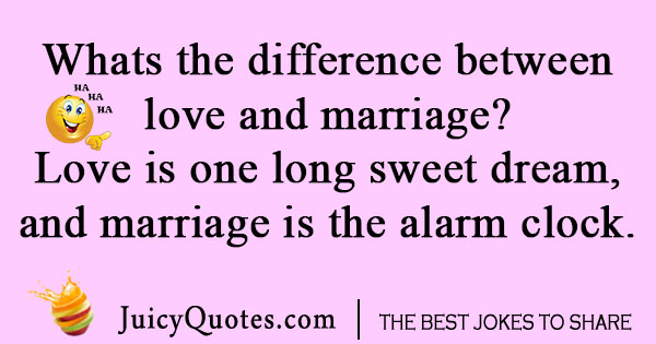 Love and Marriage Joke