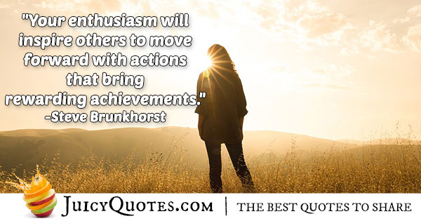 Enthusiasm and Achievement Quote