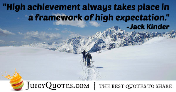 High Achievements Quote