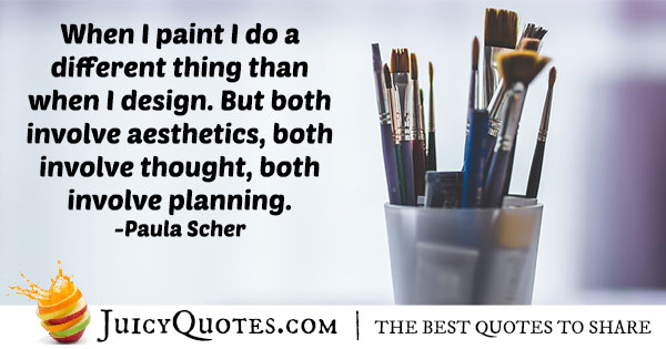 Painting and Aesthetics Quote