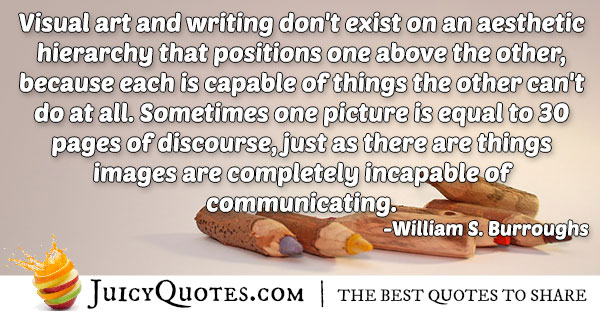 Visual Art and Writing Quote
