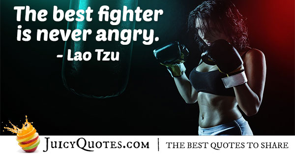 Never Angry Quote