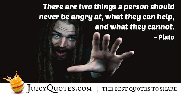 Never Be Angry Quote