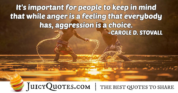 Aggression Anger Quote