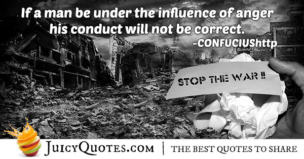 Influence of Anger Quote