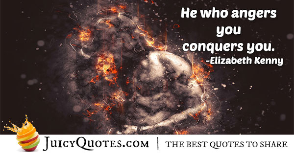 Conquer Anger Quote