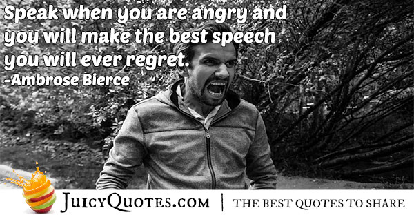Angry Speech Quote