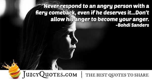 Angry Person Quote