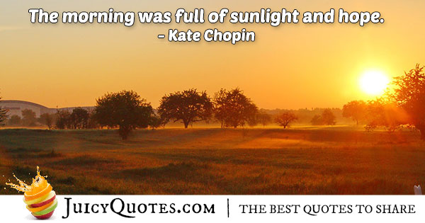 Morning Sunlight Hope Quote
