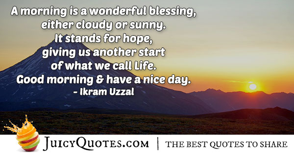 Morning Blessings Quote