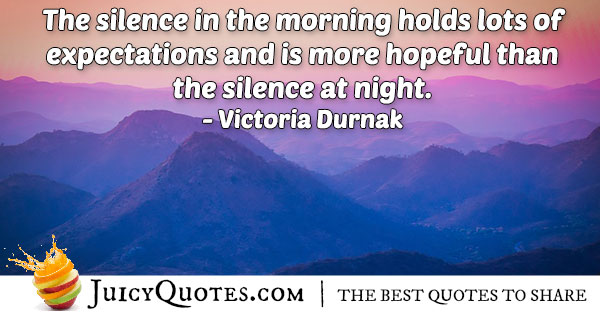 Morning Silence Quote