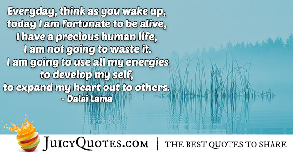 Morning Quote - Dalai Lama