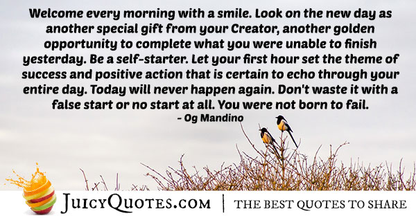 Morning Smile Quote