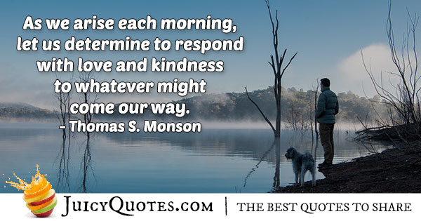 Rise Each Morning Quote