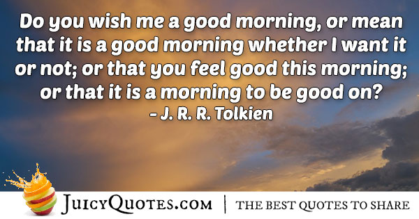 Quote About Good Mornings