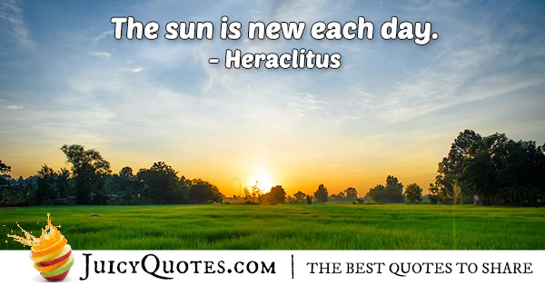 Morning Sun Quote