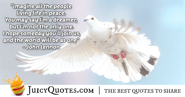 People Living In Peace Quote