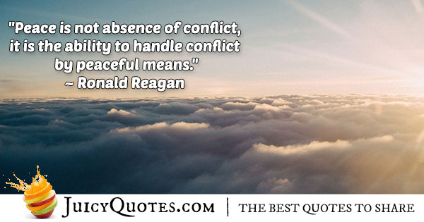 Handle Conflicts Peacefully Quote