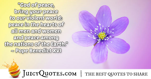 Peace to a Violent World Quote