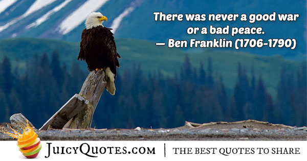 World Peace Quote - Ben Franklin