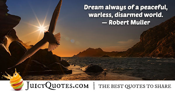 Dream of World Peace Quote