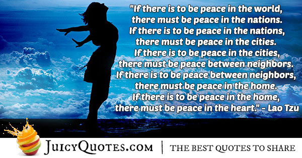 World Peace Wisdom Quote