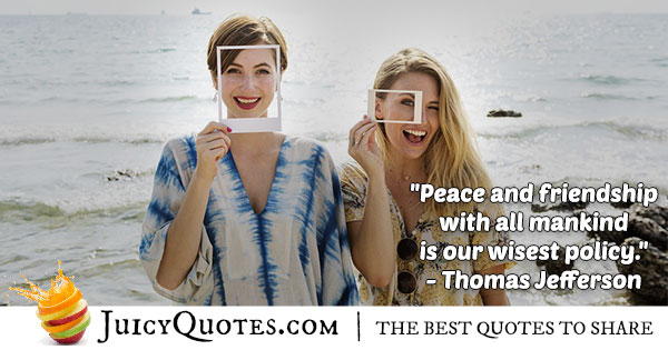 World Peace Quote - Thomas Jefferson