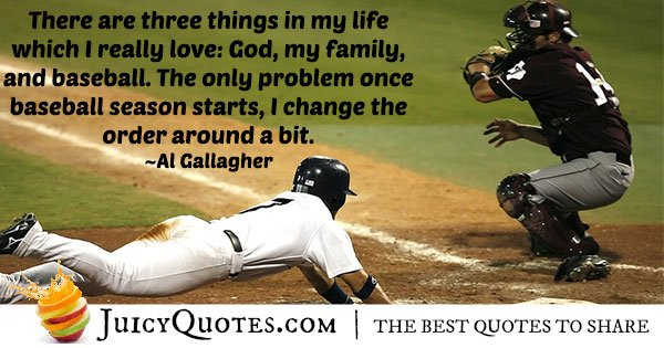 Loving Baseball Quote
