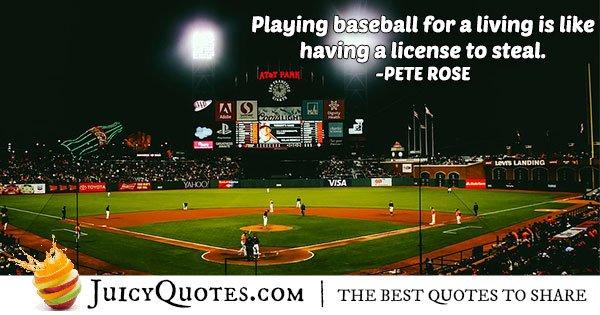 Playing Baseball Quote