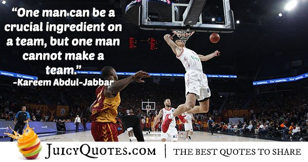Basketball Team Quote