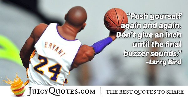 Push Yourself Basketball Quote